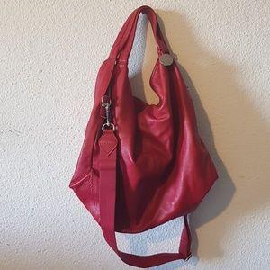 Furla red hobo with crossbody